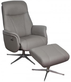 1 seater sofa recliner with stool DM01006 fabric Gray 16