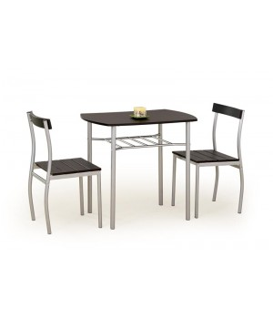 LANCE table + 2 chairs color: wenge