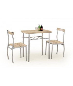 LANCE table + 2 chairs color: sonoma oak