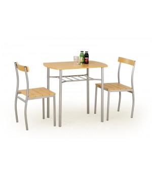 LANCE table + 2 chairs color: alder