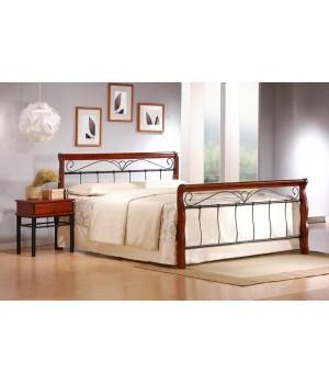 VERONICA bed 180 cm color: ant. cherry/black