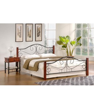 VIOLETTA bed color: ant. cherry/black