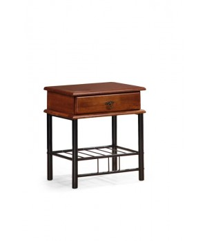FIONA night stand color: ant cherry/black