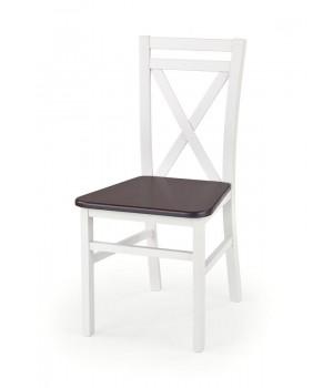 DARIUSZ 2 chair color: white / dark walnut