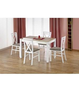 MAURYCY table color: sonoma oak / white