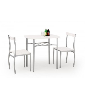 LANCE table + 2 chairs color: white
