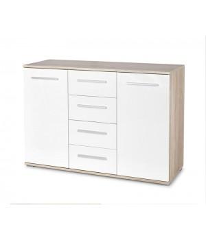 LIMA KM-4 chest, color: sonoma oak / white