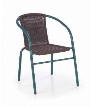 GRAND chair color: dark green / dark brown