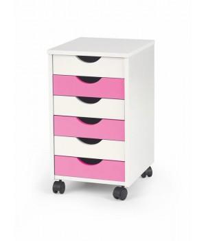 PIERRE 2 storage unit color: white-pink