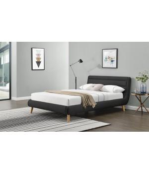 ELANDA 160 bed, color: dark grey