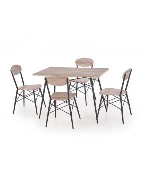 KABIR rectangular, table + 4 chairs