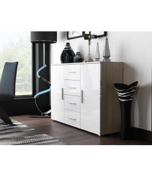 Chest of drawers UNI sonoma oak/ white