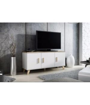 Chest of drawers LOTTA 150 3D dimond white/lsonoma oak
