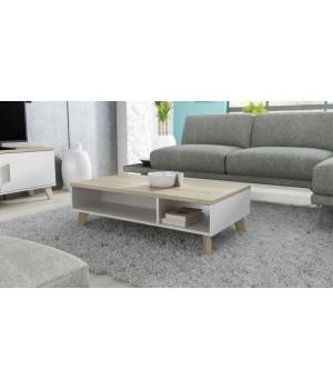 coffee table 60 LOTTA  dimond white/lsonoma oak