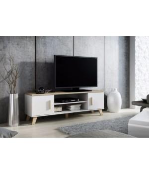 TV stand LOTTA 160 2D2K dimond white/lsonoma oak
