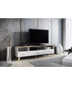 TV stand LOTTA 180 3s3K dimond white/lsonoma oak