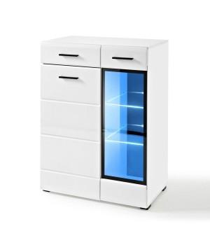 LAUREN KOM/GL chest of drawers (white/gloss white)