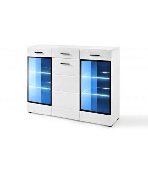 LAUREN KOM/HB chest of drawers (white/gloss white)