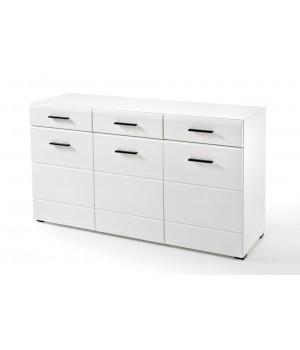 LAUREN KOM/SB chest of drawers (white/white gloss)