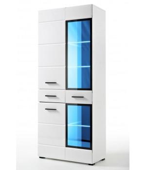 LAUREN WIT/SV cabinet (white/white gloss)