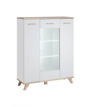LEGG WIT/HB short cabinet (monument oak/white)
