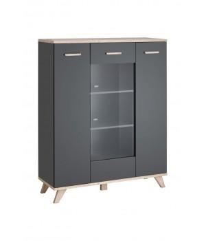 LEGG WIT/HB short cabinet (monument oak/graphite)