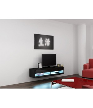 lift door TV Stand VIGO NEW RTV 140 black/black