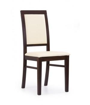 SYLWEK 1 chair color: dark walnut/creamy