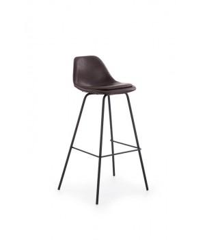 H90 bar stool, color: dark brown