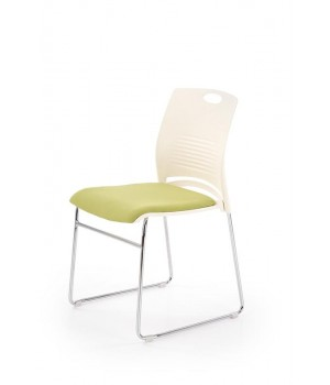 CALI chair, color: white / green