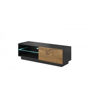 LIVO RTV-120S standing TV-stand, color: antracite/votan oak