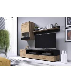 SNAP, wall set color: lefkas oak / black matt