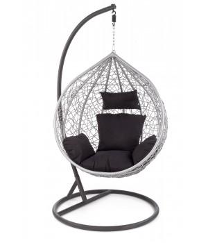 EGGY garden chair black / grey