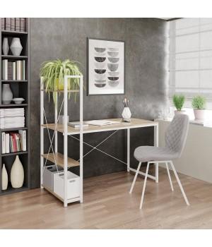 NARVIK B1 desk white / sonoma oak