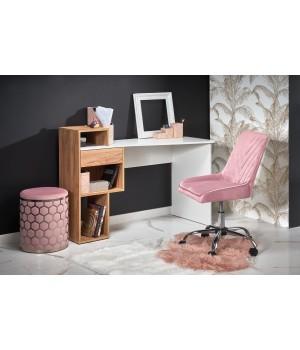 CONTI desk gold oak / white
