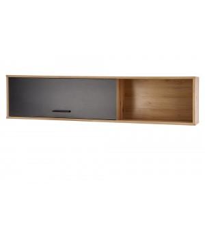 RAVEN P-1 hanging shelf color: artisan oak/black