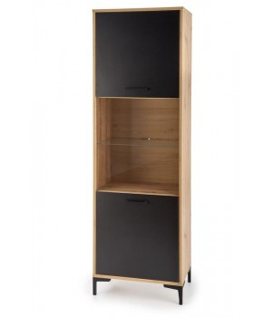 RAVEN W-1 display cabinet color: artisan oak/black