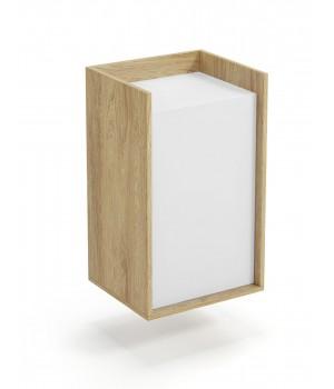 MOBIUS cabinet 1D color: hikora oak/white