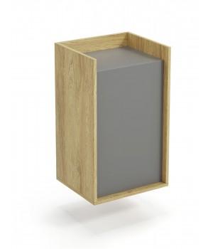 MOBIUS cabinet 1D color: hikora oak/grey
