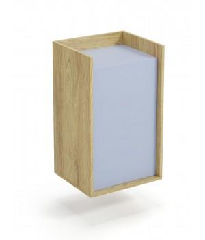 MOBIUS cabinet 1D color: hikora oak/light blue