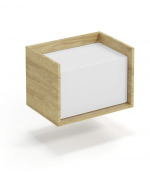 MOBIUS low cabinet 1D color: hikora oak/white