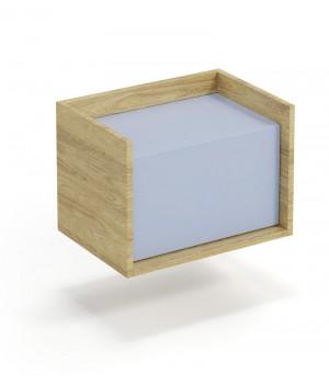 MOBIUS low cabinet 1D color: hikora oak/light blue