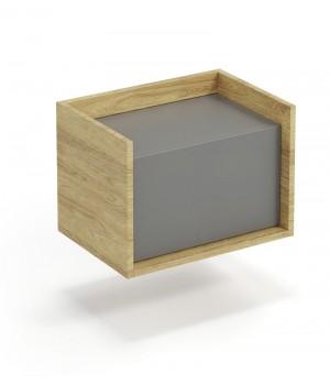 MOBIUS low cabinet 1D color: hikora oak/grey