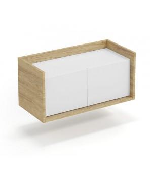 MOBIUS low cabinet 2D color: hikora oak/white