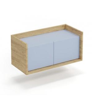 MOBIUS low cabinet 2D color: hikora oak/light blue