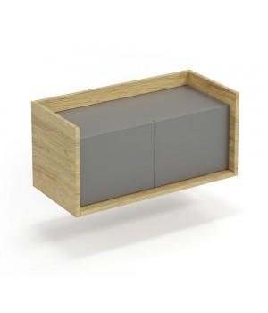 MOBIUS low cabinet 2D color: hikora oak/grey