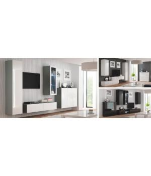 LIVO RTV-160W hanging TV-stand, color: antracite/votan oak