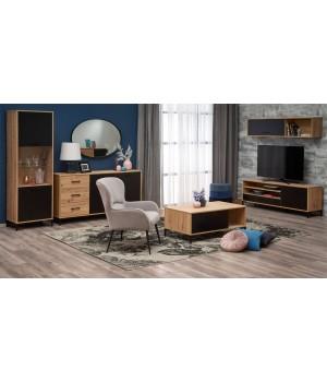 RAVEN LAW-1 coffee table color: artisan oak/black